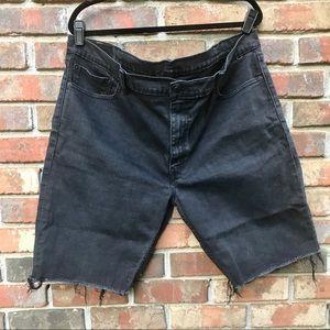 [Levi's] Black Raw Hem 511 Jean Shorts